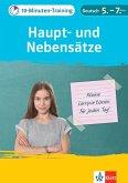 Klett 10-Minuten-Training Deutsch: Grammatik Haupt- und Nebensätze 5.-7. Klasse (eBook, PDF)