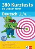 Klett 380 Kurztests, die wirklich helfen - Deutsch 3./4. Klasse (eBook, PDF)