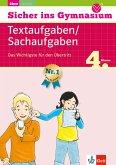 Klett Sicher ins Gymnasium Textaufgaben / Sachaufgaben 4. Klasse (eBook, PDF)