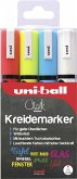 uni-ball Kreidemarker Chalk PWE-5M 4er Set