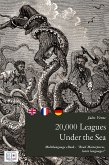 20,000 Leagues Under the Sea (English + French + German Interactive Version) (eBook, ePUB)