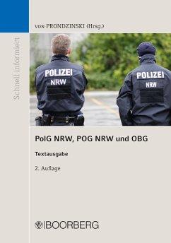 PolG NRW, POG NRW und OBG (eBook, PDF) - Prondzinski, Peter von