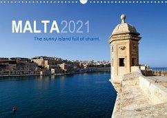 Malta. The sunny island full of charm. (Wall Calendar 2021 DIN A3 Landscape)