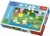 Trefl 17326 - Peppa Pig, Urlaubsspaß, Puzzle, 60 Teile