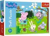 Trefl 18245 - Peppa Pig, Waldausflug, Puzzle, 30 Teile