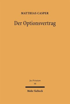 Der Optionsvertrag (eBook, PDF) - Casper, Matthias