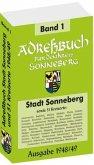Adreßbuch / Einwohnerbuch des Kreises SONNEBERG mit der Stadt SONNEBERG und 51 Kreisorte 1948/49 (Band 1 von 2)