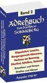 Adreßbuch / Einwohnerbuch des Kreises SONNEBERG mit Köppelsdorf, Lauscha, Mengersgereuth-Hämmern, Neuhaus am Rennweg, Oberlind, Schalkau, Steinach 1948/49 (Band 2 von 2)