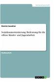 Sozialraumorientierung. Bedeutung für die offene Kinder- und Jugendarbeit