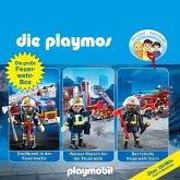 Die Playmos - Das Original Playmobil Hörspiel, Die große Feuerwehr-Box, Folgen 42, 57, 62 (MP3-Download)