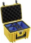 B&W GoPro Case Type 2000 Y gelb mit GoPro 8 Inlay