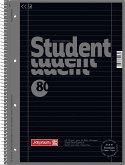 Brunnen Collegeblock Premium Student A4 liniert Lineatur 27 onyx