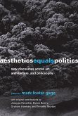 Aesthetics Equals Politics (eBook, ePUB)