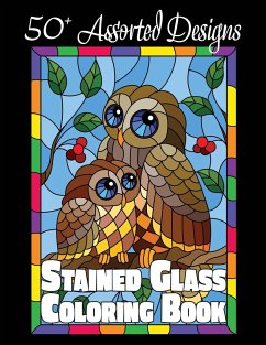 Stained Glass Coloring Book - Happiness, Lasting