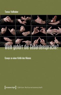 Wem gehört die Gebärdensprache? (eBook, PDF) - Vollhaber, Tomas