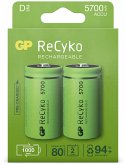 1x2 GP ReCyko NiMH Akkus D Mono 5700 mAH, ready to use, NEU
