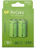 1x2 GP ReCyko NiMH Akkus C Baby 3000mAH, ready to use, NEU