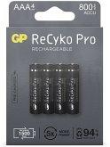 1x4 GP ReCyko Pro NiMH Akkus AAA/Micro 800mAh Pro