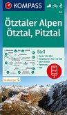 KOMPASS Wanderkarte Ötztaler Alpen, Ötztal, Pitztal