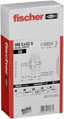 Fischer Hohlraum-Metalldübel HM 5x52 S 50 St.