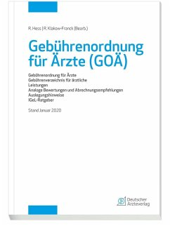 Gebührenordnung für Ärzte (GOÄ), Stand Januar 2020