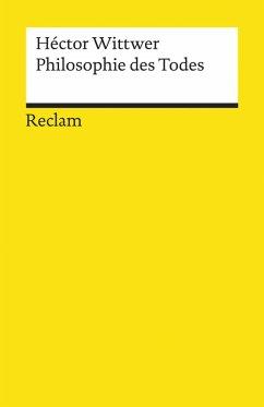 Philosophie des Todes (eBook, ePUB) - Wittwer, Héctor