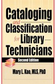 Cataloging and Classification for Library Technicians, Second Edition (eBook, PDF)