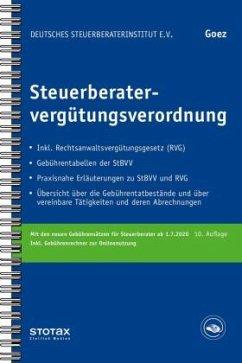 Steuerberatervergütungsverordnung - Goez, Christoph