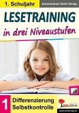 Lesetraining in drei Niveaustufen / Klasse 1 (eBook, PDF)