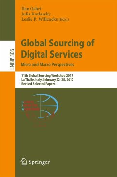 Global Sourcing of Digital Services: Micro and Macro Perspectives (eBook, PDF)