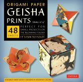 "Origami Paper Geisha Prints 48 Sheets 6 3/4"" (17 CM): Large Tuttle Origami Paper: High-Quality Origami Sheets Printed with 8 Different Designs (Instru"