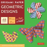 "Origami Paper Geometric Prints 48 Sheets 6 3/4"" (17 CM): Large Tuttle Origami Paper: High-Quality Origami Sheets Printed with 6 Different Patterns (In"