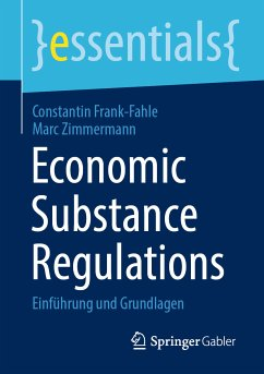 Economic Substance Regulations (eBook, PDF) - Frank-Fahle, Constantin; Zimmermann, Marc