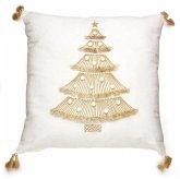 L´Oca Nera Motivkissen mit Weihnachtsbaum 45x45 cm