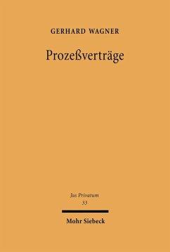 Prozeßverträge (eBook, PDF) - Wagner, Gerhard