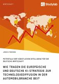 Wie tragen die europäische und deutsche KI-Strategie zur Technologiediffusion in der Automobilbranche bei? Potentiale der Künstlichen Intelligenz für die deutsche Wirtschaft