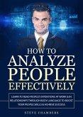 How to Analyze People Effectively (eBook, ePUB)