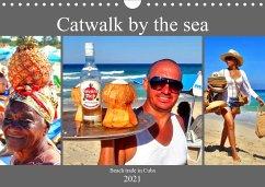 Catwalk by the sea - Beach trade in Cuba (Wall Calendar 2021 DIN A4 Landscape)