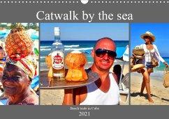 Catwalk by the sea - Beach trade in Cuba (Wall Calendar 2021 DIN A3 Landscape)