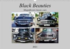 Black Beauties - Magnificent classic cars (Wall Calendar 2021 DIN A3 Landscape)