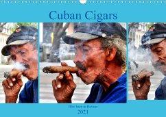Cuban Cigars - Blue haze in Havana (Wall Calendar 2021 DIN A3 Landscape)