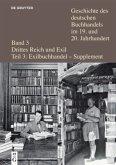 Geschichte des deutschen Buchhandels im 19. und 20. Jahrhunderts. Bd. 3 Drittes Reich und Exil Teil 3 - Suppl.