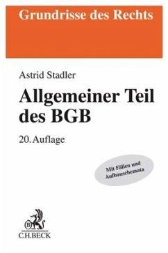 Allgemeiner Teil des BGB - Stadler, Astrid