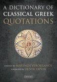 A Dictionary of Classical Greek Quotations (eBook, ePUB)