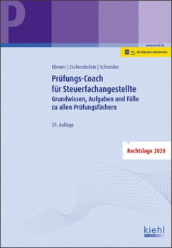 Prüfungs-Coach für Steuerfachangestellte - Kliewer, Ekkehard;Zschenderlein, Oliver;Schneider, Alexander
