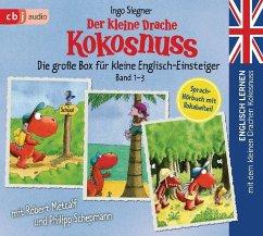 Englisch lernen mit dem kleinen Drachen Kokosnuss - Die große Box für kleine Englisch-Einsteiger (Band 1-3) - Siegner, Ingo