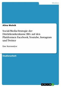 Social-Media-Strategie der Direktkrankenkasse BIG auf den Plattformen Facebook, Youtube, Instagram und Twitter (eBook, PDF)