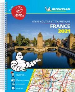 France 2021 -Tourist & Motoring Atlas A4 Laminated Spiral
