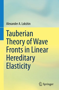 Tauberian Theory of Wave Fronts in Linear Hereditary Elasticity