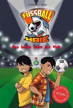 Das beste Team der Welt / Fußball-Haie Bd.3+4 (Mängelexemplar) - Schlüter, Andreas; Margil, Irene